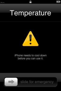 Apple iphone temperature warning